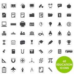 Education icons basics vector
