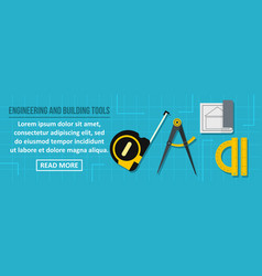 Engineering and building tools banner horizontal vector