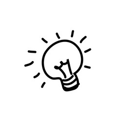 figures bulb idea icon vector image