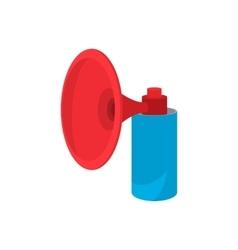 Football horn cartoon icon vector