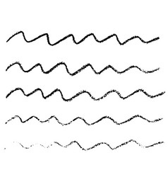 Ink wave brush strokes vector