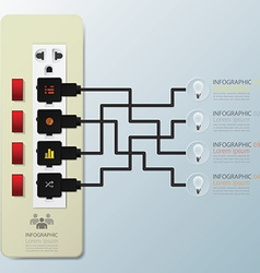 Light bulb switch infographic design template vector