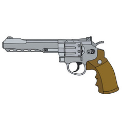 Long big revolver vector
