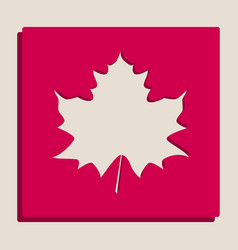 Maple leaf sign grayscale version of vector