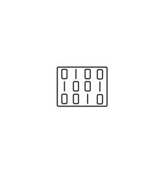 matrix line icon vector image vector image