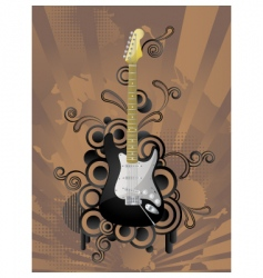 retro music background vector image vector image