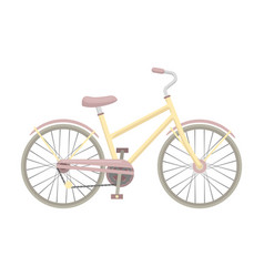 Rural women s bicycle the vehicle of a healthy vector