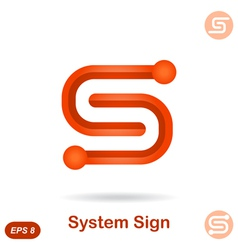 S letter - modern system concept sign vector image vector image