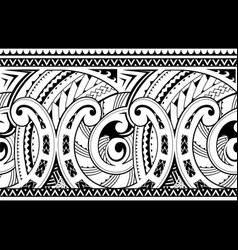 Seamless ethnic tribal ornament vector