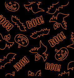 seamless texture for halloween vector image vector image