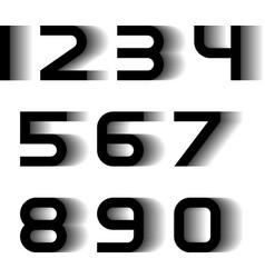 Speed motion blur font numbers vector