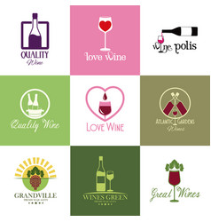 Stickers wine drink alcohol image vector