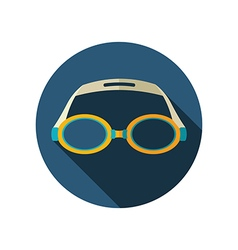 Swimming goggles flat icon summer vacation vector