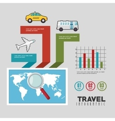 Travel infographics design vector