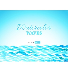 watercolor waves landscape vector image