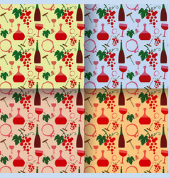 wine color seamless patterns vector image