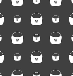 woman hand bag icon sign Seamless pattern on a vector image vector image