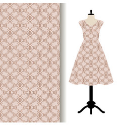 women dress fabric with grey pattern vector image