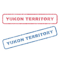 Yukon territory textile stamps vector