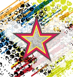 Retro star on grunge background vector