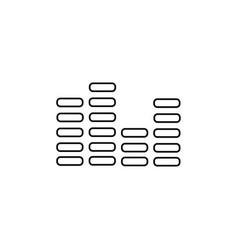 digital sound bar icon vector image