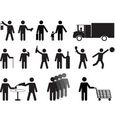 Pictogram people activities vector