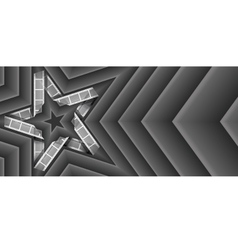 Film strip star vector