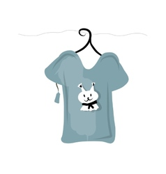 Top on hangers with funny squirrel design vector