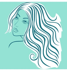 Beautiful blond women sketching head vector