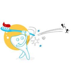 playing teeth vector image