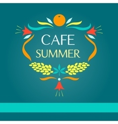 Template logo sammer cafe vector