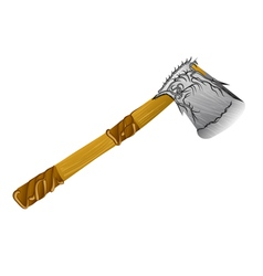 Lumber decorative axe vector