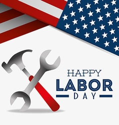 Happy labor day design vector