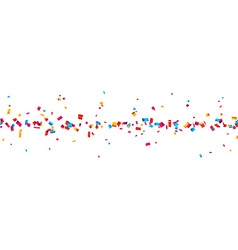 Confetti celebration banner vector