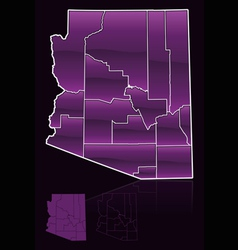 Counties of arizona vector