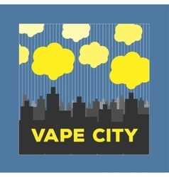 Logo vaping city electronic cigarette vector