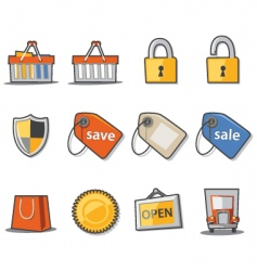 Shopping and retail vector