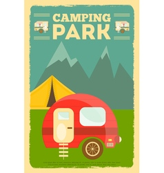 Mountain camping vector