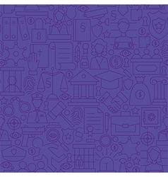 Thin Purple Attorney Lawyer and Justice Line vector image