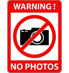 No photography camera prohibited symbol vector