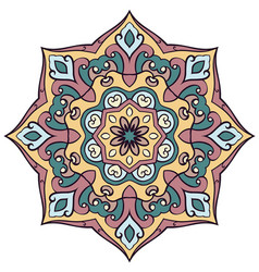 Abstract colored mandala vector