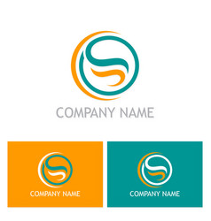 abstract letter s logo vector image