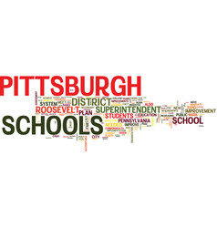 Are pittsburgh schools in trouble text background vector