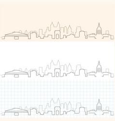 Atlanta hand drawn skyline vector