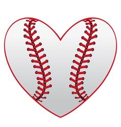 Baseball leather ball as a heart vector image