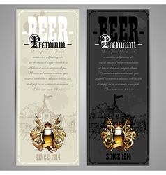 Beer menu design vector image