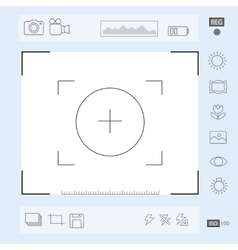 Camera viewfinder display Exposure and vector image vector image