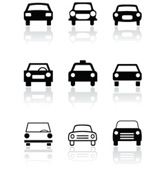 car symbol set vector image