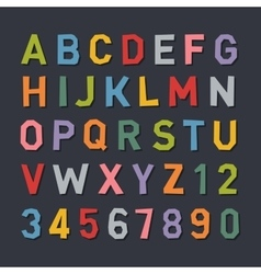 Cartoon Style Flat Color Alphabet vector image