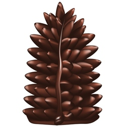 Christmas tree made of chocolate vector